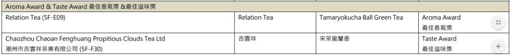 中國茶文化國際交流協會 香港國際茶展 香港茶展 名茶比賽