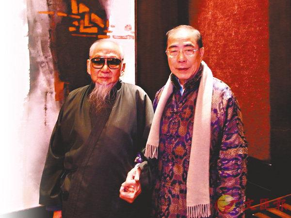 楊孫西與文老合照