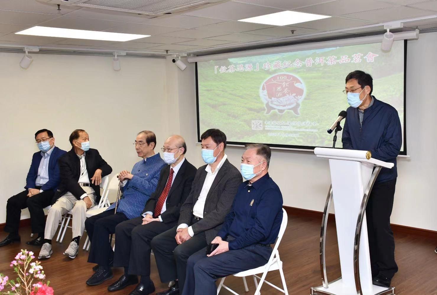 本會顧問、大文集團董事長姜在忠先生發表致辭